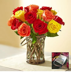 Autumn Rose Bouquet with Free Bracelet
