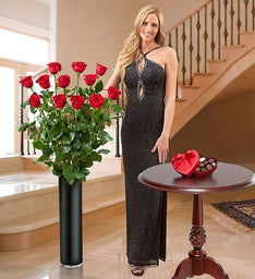 Magnificent Rose® One Dozen 4ft Red Roses