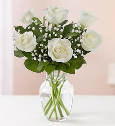 Love's Embrace™ White Roses