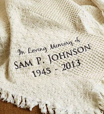 Personalized Memorial Afghan