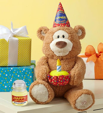 Happy Birthday Animated Bear By Gund