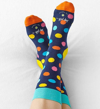 Good Day Polka Dot Socks for Women
