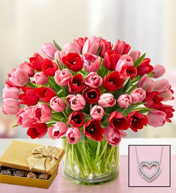 Sweetest Love Tulips 60 Stems