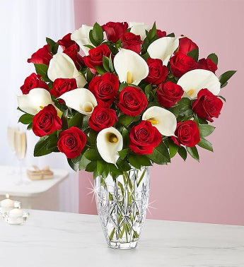 Luxurious Red Rose & Calla Lily Bouquet