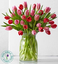 Valentine's Day Tulips by Real Simple