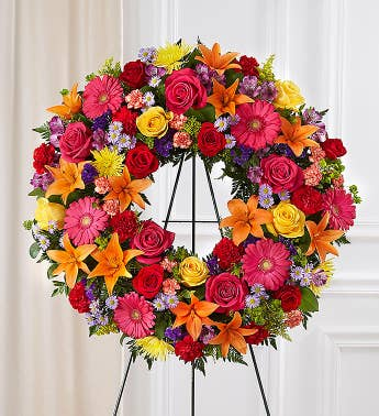 Serene Blessings™ Standing Wreath- Bright