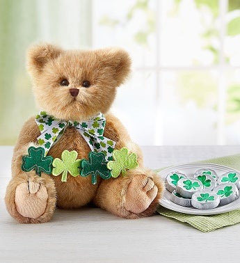 Bearington St Patricks Bear  Shamrock Chocolates