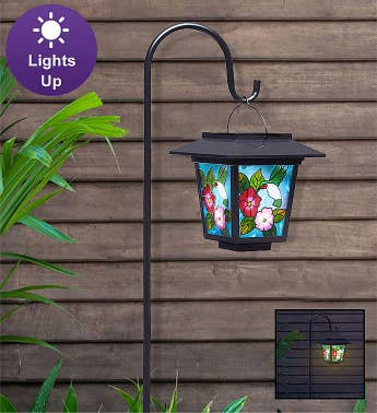 Solar Hummingbird Lantern with Stake
