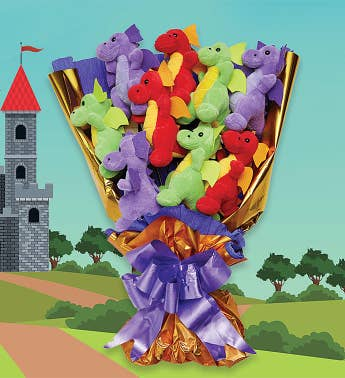 Dragon Plush Bouquet