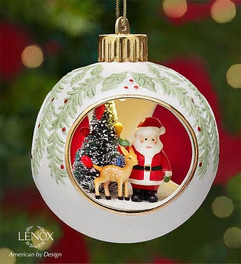 Lenox Lighted Santa Scene Ornament