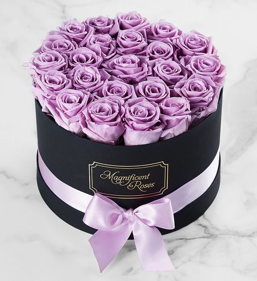 Magnificent Roses™ Preserved Lavender Roses