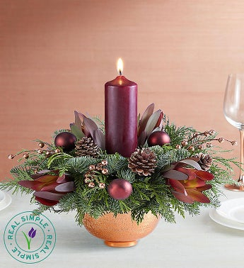 Enchanting Evergreens Centerpiece by Real Simple