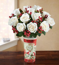 Vintage Holiday Vase Bouquet