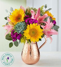 Summer Sunflower Succulent Bouquet by Real Simple®