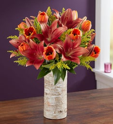 Fall Tulip & Lily Bouquet
