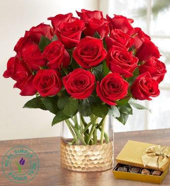 Classic Holiday Red Roses by Real Simple