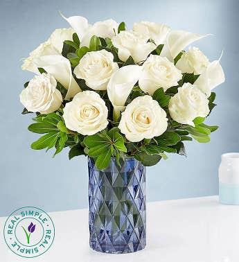 White Rose  Calla Lily by Real Simple