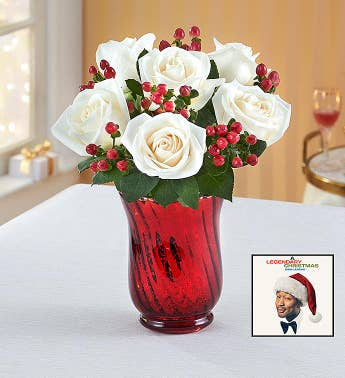 John Legend Holiday Album  Rose  Berry Bouquet
