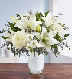 Pure Elegance Bouquet™ in White Mosaic for Sympathy