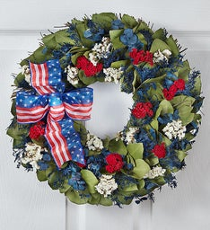 Preserved Red, White and Beautiful Wreath - 16
