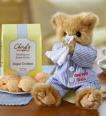 Bearington® Get Well Bear with Cheryl's Cookies