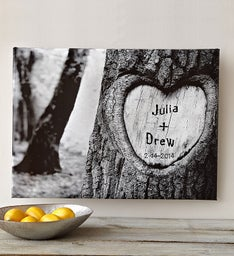 Personalized Tree of Love Canvas