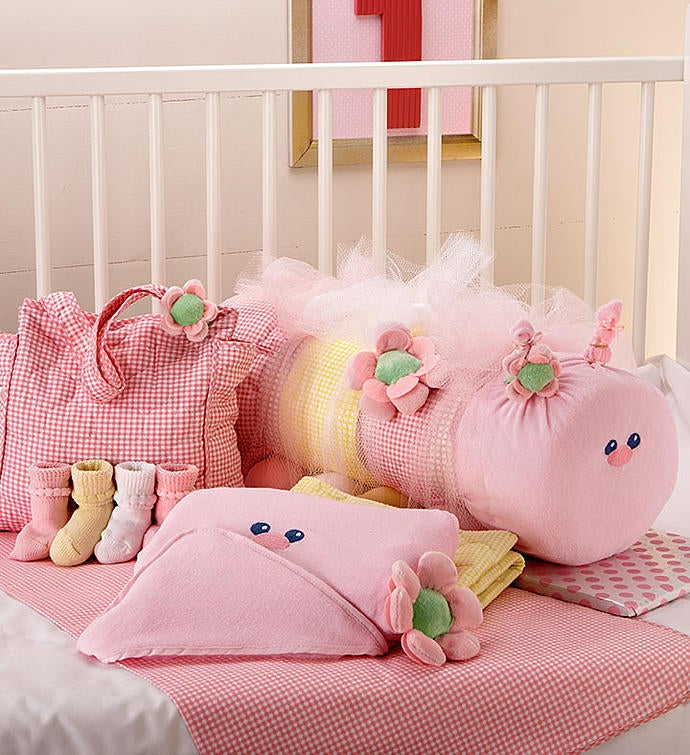 Baby Caterpillar Blanket  Bag Set- Pink or Blue
