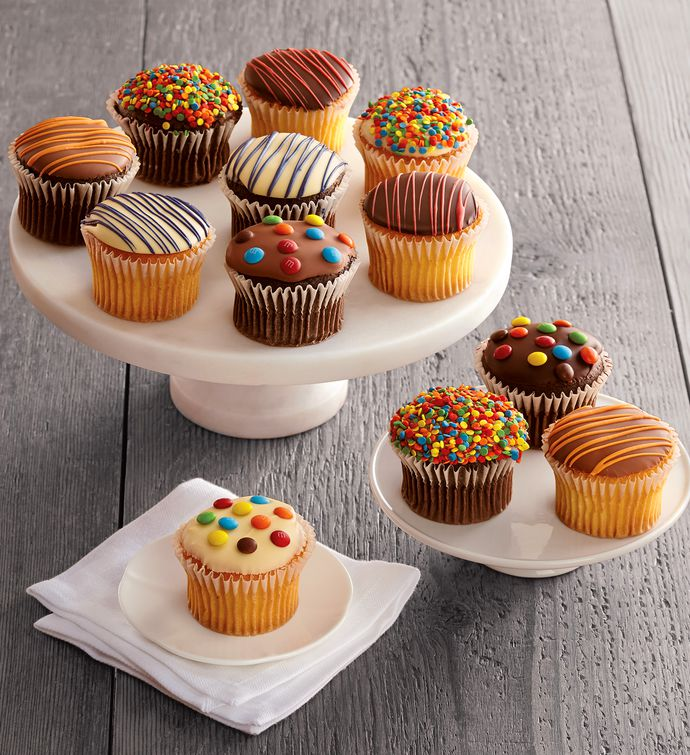 Celebrate Chocolate-Dipped Cupcakes