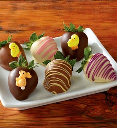Easter Chocolate-Covered Strawberries - Half Dozen
