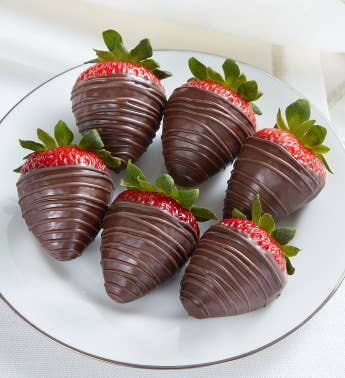 Berrylicious174 Dark Chocolate-Covered Strawberries 8211 6 Count