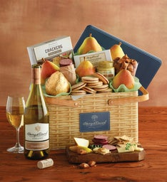Sunshine Picnic Basket with Wine