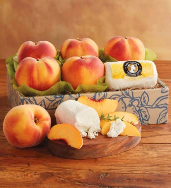 Oregold174 Peaches and Laura Chenel Honey Ch232vre