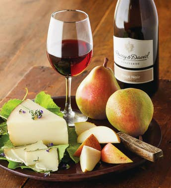 Royal Riviera174 Pears Manchego Cheese and Harry  Davidtrade Pinot Noir