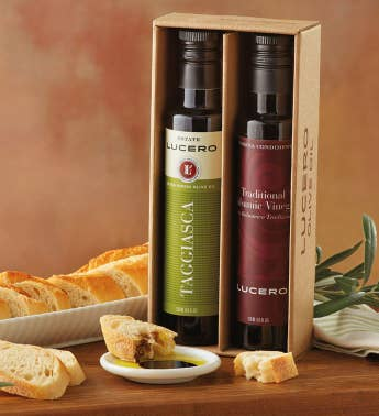 Lucero Olive Oil and Vinegar Gift