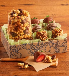 Moose Munch® Premium Popcorn and Chocolate-Covered Strawberries