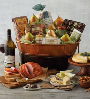 Turkey Buffet Gift with Wine