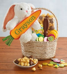 Personalized Easter Bunny Gift Basket