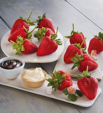 Mother39s Day Strawberries Devonshire Cream and Chocolate Dipping Sauce