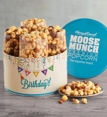 Moose Munch174 Premium Popcorn Birthday Tin