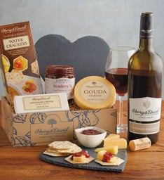Valentine's Day Cheese Gift with Wine
