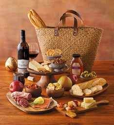 Market Tote with Wine