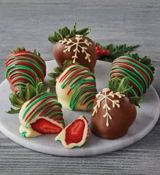 Holiday Chocolate-Covered Strawberries – 6 Count