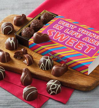 34Best Things in Life are Sweet34 Chocolate Gift Box