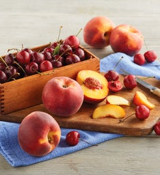 Oregold® Peaches and Plump-Sweet Cherries