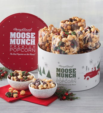 Moose Munch174 Premium Popcorn Holiday Tin