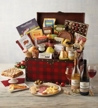 Gourmet Celebration Chest with Wine