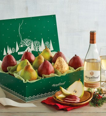 Colors of Christmas Pears and Wine