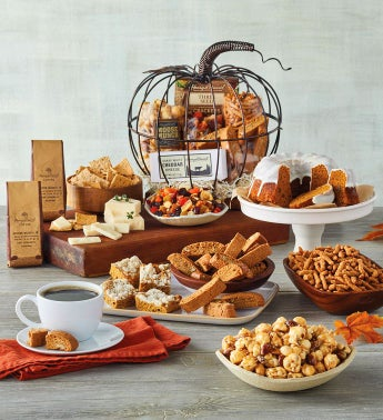 Southern Living Pumpkin-Shaped Gift Basket