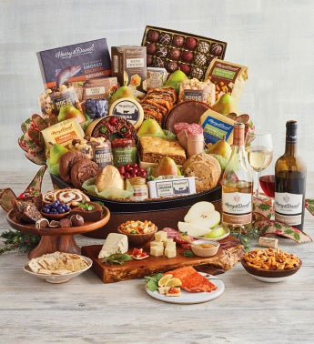 Supreme Hearthside Gift Basket with Wine
