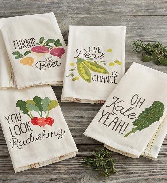 Vegetable Pun Towels